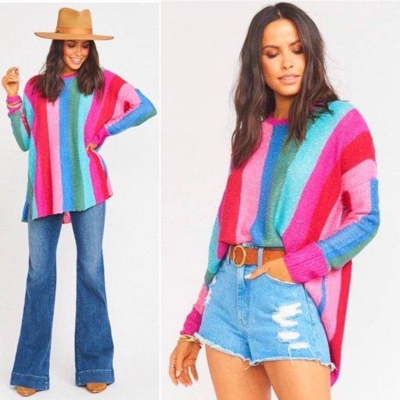 Show Me Your MuMu Sweaters - Show Me Your Mumu Bonfire Sweater Madly Stripe